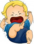 picture of spoiled brat  - Illustration Featuring a Baby Throwing a Tantrum - JPG