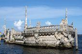 Stone Breakwater Barge At The Vizcaya Museum poster