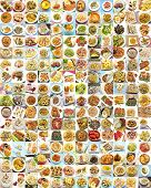 foto of crustacean  - Collage with variety of food and dishes cooked - JPG
