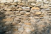 picture of mortar-joint  - Stone masonry with rich and various texture - JPG