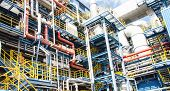 picture of municipal  - Details and pipes of an industrial municipal waste incineration plant  - JPG