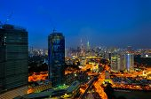 foto of petronas twin towers  - Kuala Lumpur is the seat of the Parliament of Malaysia - JPG