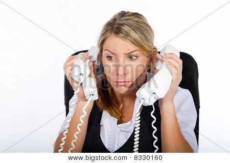 overworked secretary