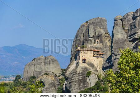 World known monasteries in Meteora, Greece