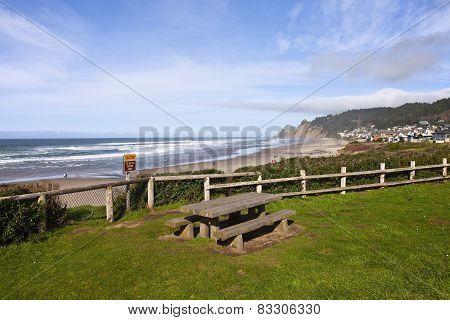 Lincoln City Township Near The Coast Oregon.