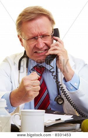 Angry Doctor On The Phone