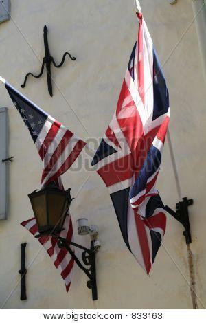 real USA and UK Flags