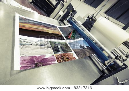 offset machine roll laminator in print house