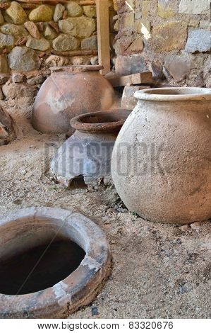 Old Clay Pot Excavations Into Ancient City Ruins