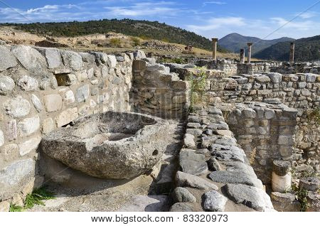 Ruins of the ancient city Bargala in Stip, Macedonia