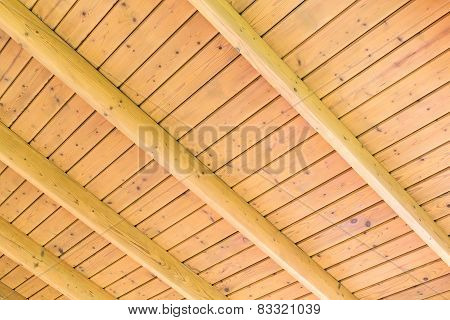 Wooden Boards Ceiling Background