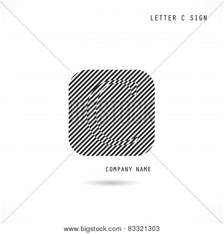 Creative Letter C Icon Abstract  Logo Design Vector Template.