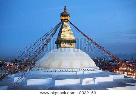 Boudhanath Stupa In The Kathmandu, Nepal