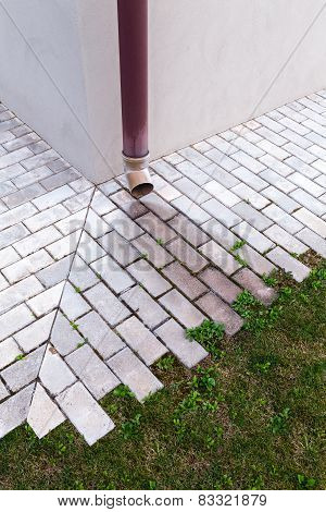 Downspout On Wall