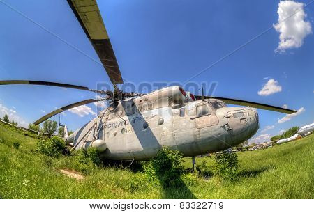 The Russian Heavy Transport Helicopter Mi-6 At An Abandoned Aerodrome.