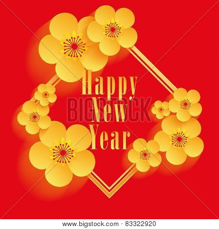 Chinese New Year - Greeting card vector design