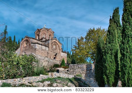 Old church St. John Kaneo in Ohrid, Macedonia