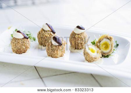 Scotch Breaded Eggs Contemporary Fusion Style
