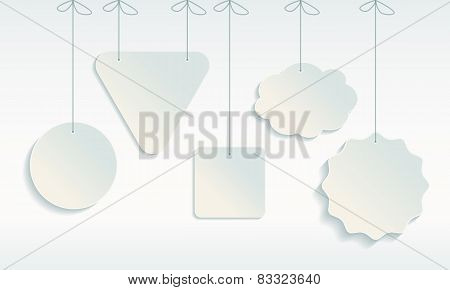Set Of Paper Tag Icons