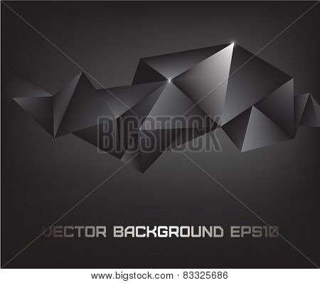 vector abstract black crystal background