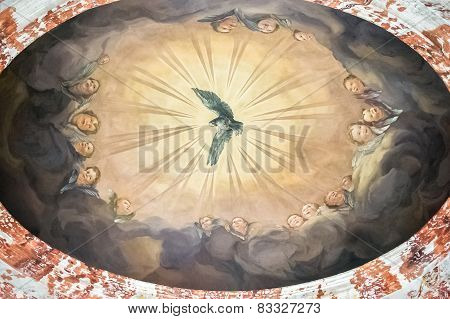 Mural On The Ceiling