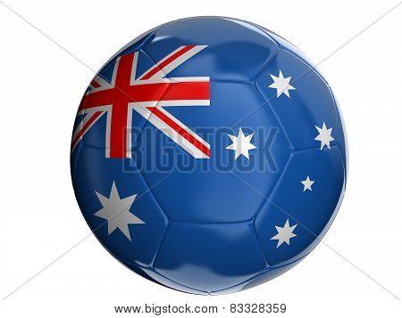 Soccer ball with Australian flag