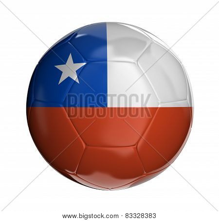 Soccer ball with Chilean flag
