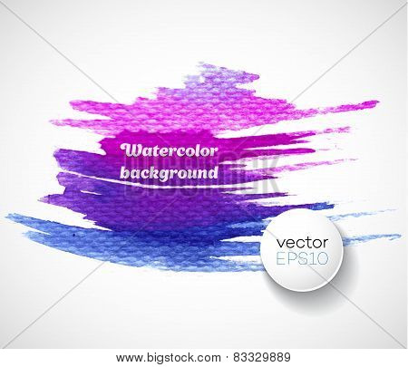 Watercolor splatters. Vector