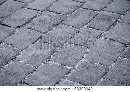 Stone pavers.