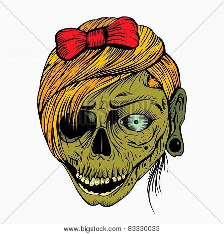 It is a girl's head zombie.