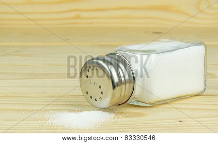 Salt Shaker with Spilled Salt