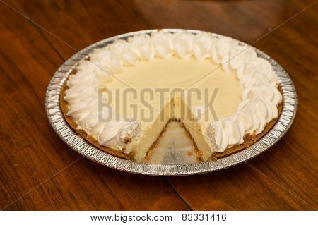Lemon Meringue Pie With Slice Miissing