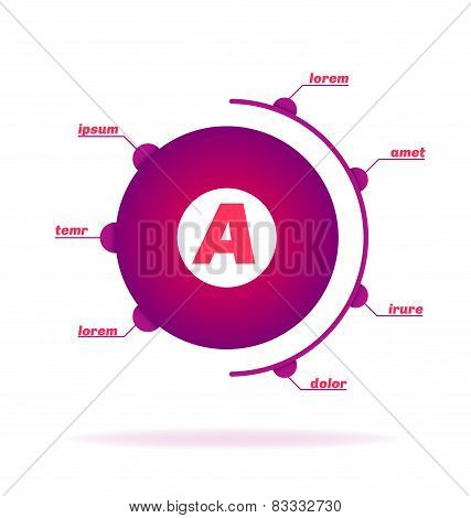 Business Infographic, Round Shape, Footnotes.
