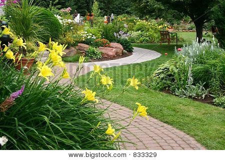 Tranquil Garden 2 Stock Photo Stock Images Bigstock