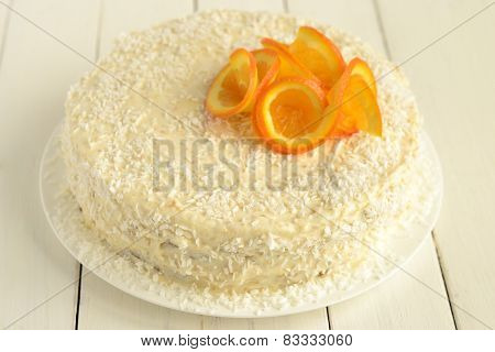 Orange sponge cake with butter cream