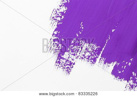 Stroke Purple Paint Brush