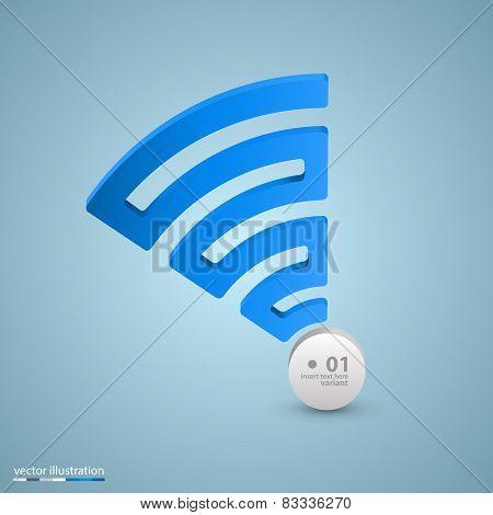 Spiral signal info art sign