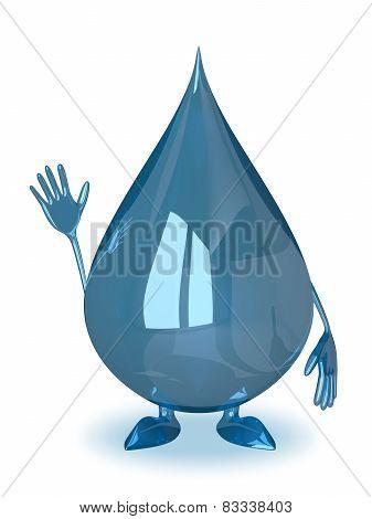 Water Drop Waving Hand