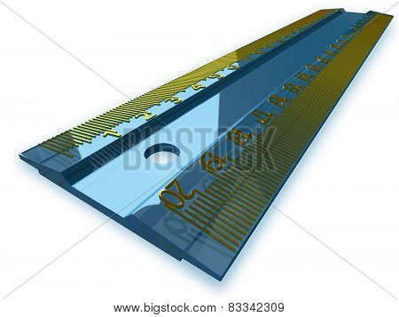 Blue Ruler, Perspective View