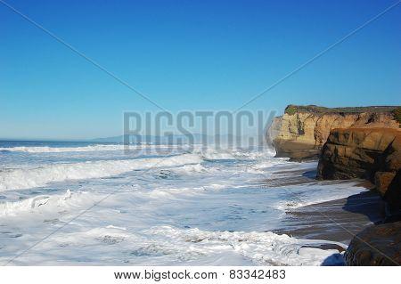 Rocky Seashore in Santa Cruz, California, USA