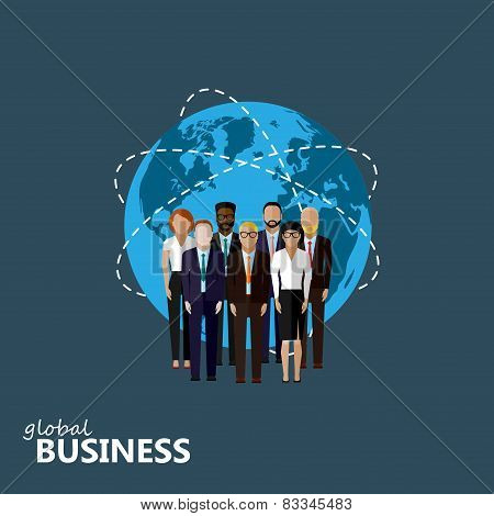 vector flat illustration of business or politics community.