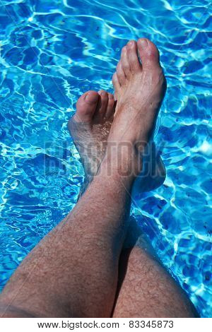 Feet In Blue Water
