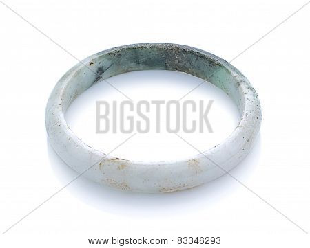 Jade Bangle Isolated On White Background