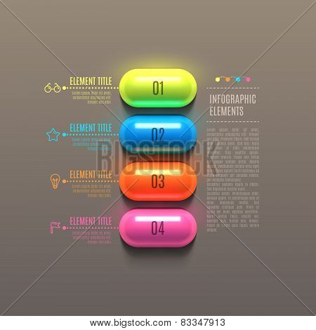 Business Infographics capsule concept.