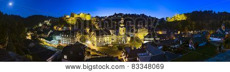 Monschau At Night Panorama, Germany