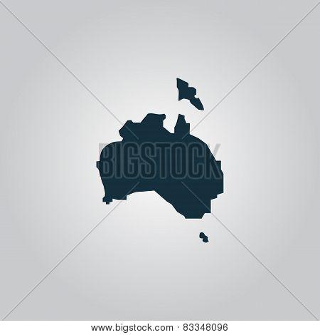 High vector map - Australia