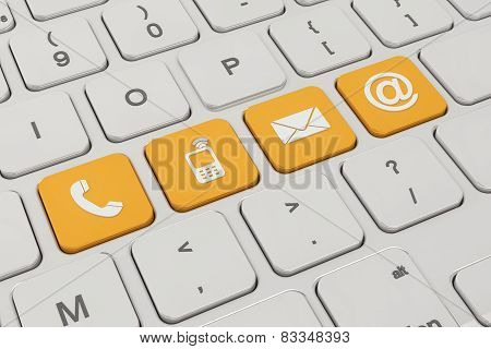 Contact Us - Keyboard - Orange