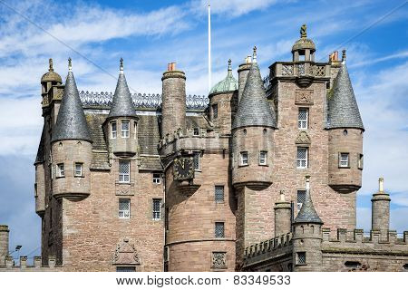View of Glamis Castle, Scotland