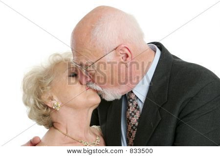 romantische senior kiss