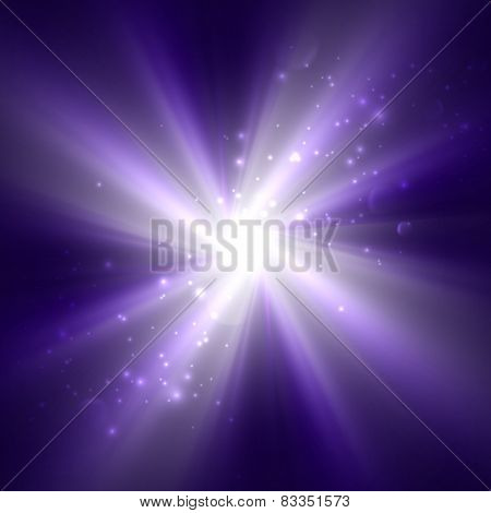 bright flash, explosion or burst